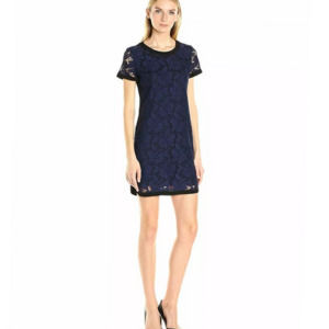 NWT Donna Morgan Navy Lace Overlay Dress Size 12